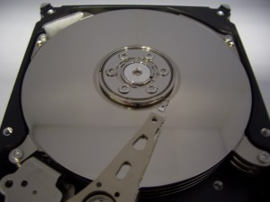 The data platters in a hard drive will typically be divided