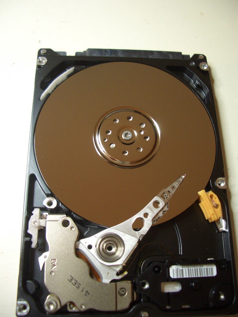 Cause of hard drive failure- the heads are stuck to the platters